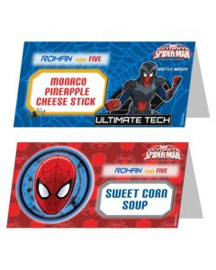 Spiderman Food Labels