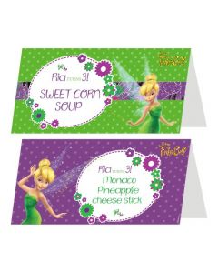 Tinkerbell Theme Food Labels