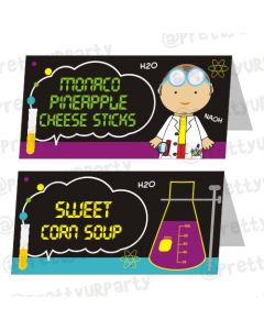 Mad Scientist Theme Food Labels / Buffet Table Cards