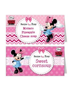 Minnie Mouse Food Labels
