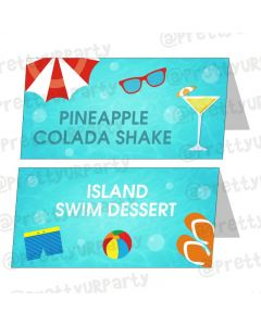 Splash Pool Party Theme Food Labels