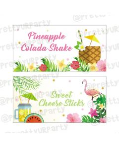 Flamingo Theme Food Labels / Buffet Table Cards