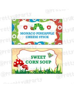 The Hungry Caterpillar Food Labels / Buffet Table Cards