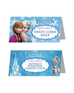 frozen food labels cards