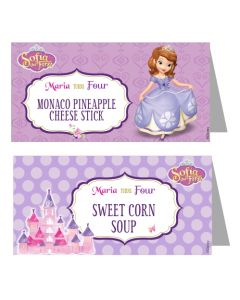 Sofia the first Enchanted Garden Party Food Labels