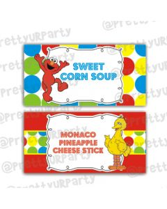 Elmo Theme Food Labels