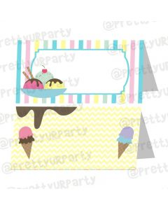 Ice Cream Theme Food Labels