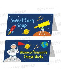 Space Theme Food Labels / Buffet Table Cards