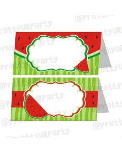 Watermelon Theme Food Labels