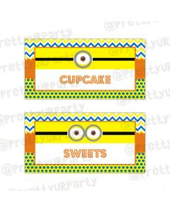 Despicable Me Minions Buffet Table Cards