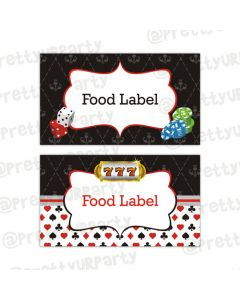 Casino Night food labels / buffet table cards