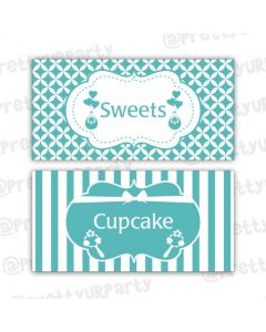 Tiffany Baby Shower Food Labels