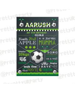 Football Theme Chalkboard Poster