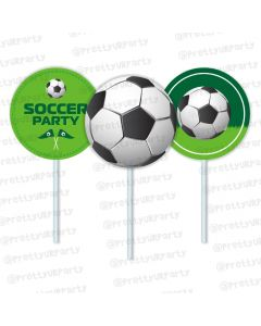 football theme cupcake / food toppers