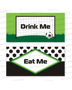 football theme food labels / buffet table cards