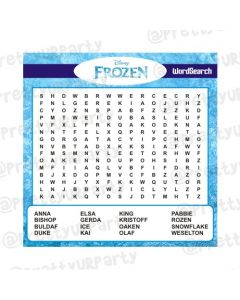 Frozen Word Search Game