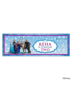 Personalized Frozen Birthday Banner 36in