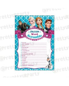 Frozen Word Scramble Game