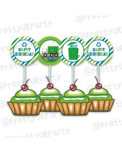 Garbage Truck Cupcake / Food Toppers