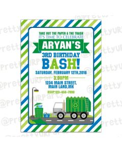 Garbage Truck Invitations