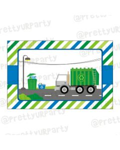 Garbage Truck Table Mats