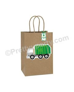 Garbage Truck Theme Gift Bags - Pack of 10