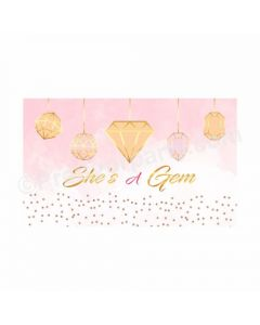 Gem and Glitter Theme Backdrop