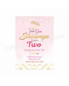 Gem and Glitter Theme Invitations