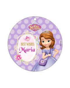 Sofia the first Enchanted Garden Party Best Wishes card
