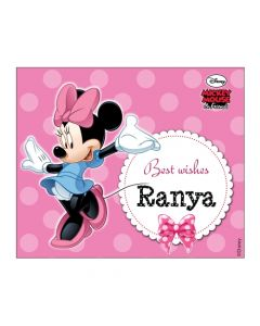 Minnie Mouse Best Wishes card