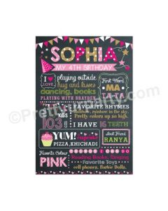 Chalkboard Poster - Pink