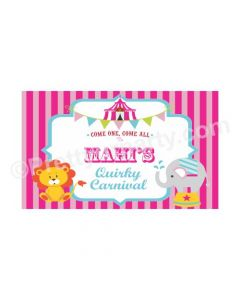 Girly Carnival Theme Backdrop