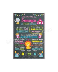 Girly Carnival Theme Chalkboard Poster