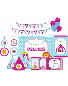 Girly Carnival Party Decorations - 90 Pieces