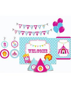 Girly Carnival Party Decorations Package - 70 pieces