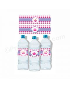 Little Chef Theme Water Bottle Labels