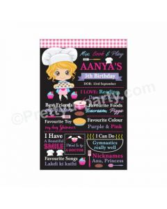 Little Chef Theme Chalkboard Poster