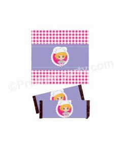 Little Chef Theme Chocolate Wrappers