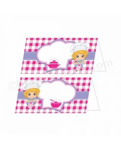 Little Chef Theme Food Labels / Buffet Table Cards