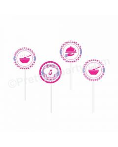 Little Chef Theme Cupcake / Food Toppers