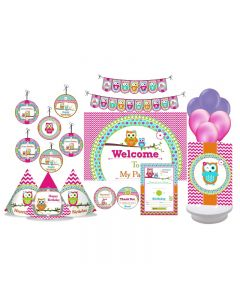 Girly Owl Party Decorations