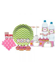 Girly Owl Tableware Package