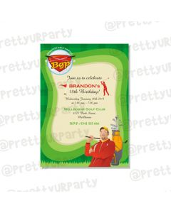Golf Partee E-Invitations
