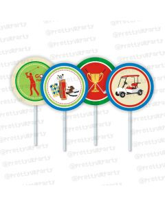 golf partee cupcake / food toppers