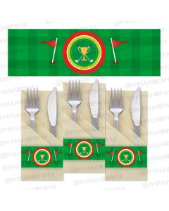 golf partee napkin rings