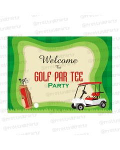 golf partee entrance banner/ door sign