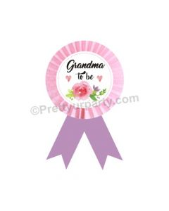 Grandmom to be Rosette Badge