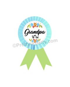 Granddad to be Rosette Badge