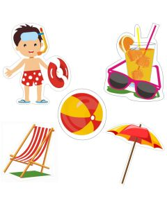 Pool Party Theme Cutouts