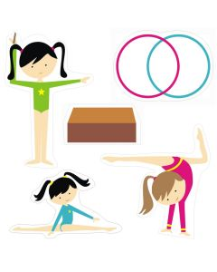Gymnastics Theme Cutouts